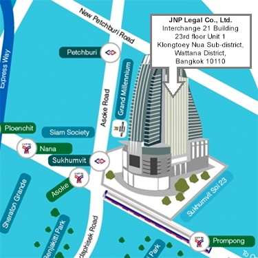 Map to JNP Legal Thailand - Click to print